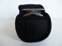 A&M # 9/11 Black  Neopreen Reelbag